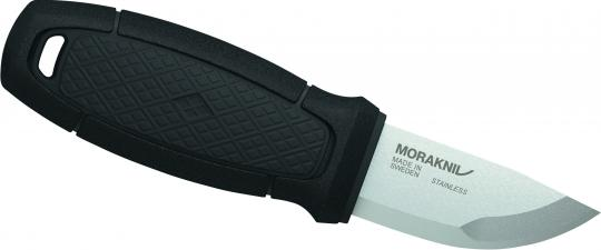 Morakniv ELDRIS NECK KNIFE, Sandvik-Stahl 12C27, rostfrei, schwarzer Kunststoffgriff, Köcherscheide, Feuerstarter