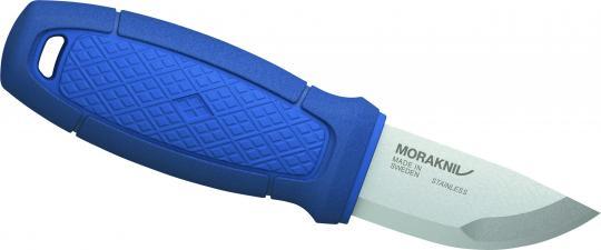 Morakniv ELDRIS NECK KNIFE, Sandvik-Stahl 12C27, rostfrei, blauer Kunststoffgriff, Köcherscheide, Feuerstarter