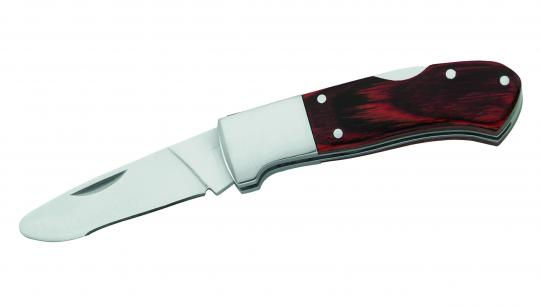 Herbertz Kinder-Taschenmesser, Pakkaholz-Griffschalen, feststellbare Klinge