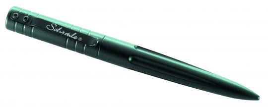 Schrade Black TACTICAL PEN, 6061 Aluminium-Körper, schwarz anodisiert, Hauser Kugelschreibermine Giant 012