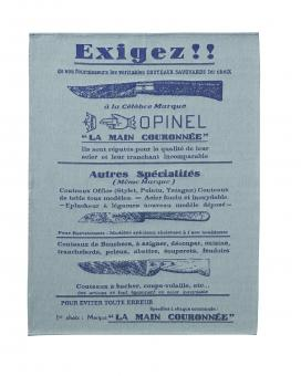 Opinel Küchentuch, hell, Baumwolle, Jacquardmuster,