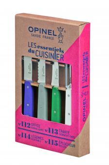 Opinel Küchenmesser-Set LES ESSENTIELS Art Deco, 4-teilig, rostfrei