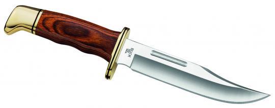 Buck Special, 420 HC-Stahl, Pakkaholzgriff, Messingbeschläge, Lederscheide