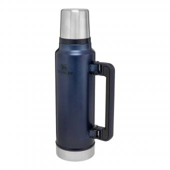 Stanley LEGENDARY CLASSIC VAKUUM-FLASCHE, Nightfall blau, 1,4l, doppelwandige Vakuumisolierung, Griff, Trinkbecher