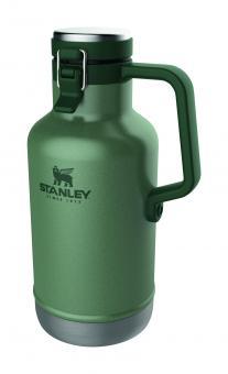 Stanley CLASSIC VACCUUM BEER GROWLER 1,9 Liter, 18/8 Stahl, Hammertone grün, doppelwandige Vakuumisolierung