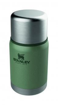 Stanley ADVENTURE VAKUUM FOOD JAR 0,7 l, Edelstahl, Hammertone grün, Vakuum-Isolation, isolierte Deckel