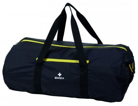 SWIZA Falttasche Cordis 60L, 210D Ripstop Nylongewebe, Hauptfach, Außentasche, abnehmbare Gurte, Volumen 60 Liter