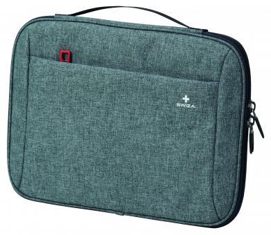 SWIZA Laptop Sleeve Fausta, zweifarbiger Tweedstoff, Fleec-Innenfutter, für Tablet/Laptop 38,1 cm/15 Zoll