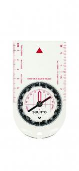 Suunto Kompass A-10NH, transparente Bodenplatte, 360 Grad Einteilung, Deklinationsskala, Tragekordel
