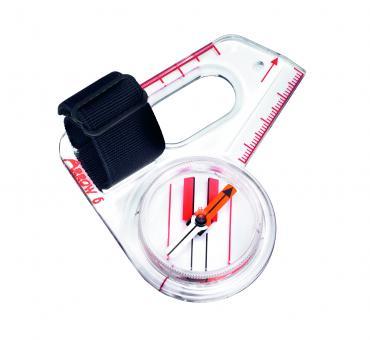 SUUNTO ARROW-6 Daumenkompass, für Orientierungsläufer, schnell eindrehende Kompassnadel, Millimeterskala